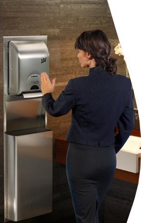 Иноксов дозатор за хартиени кърпи за ръце enMotion